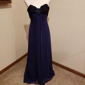 Caroline Herrera silk chiffon strapless ball gown